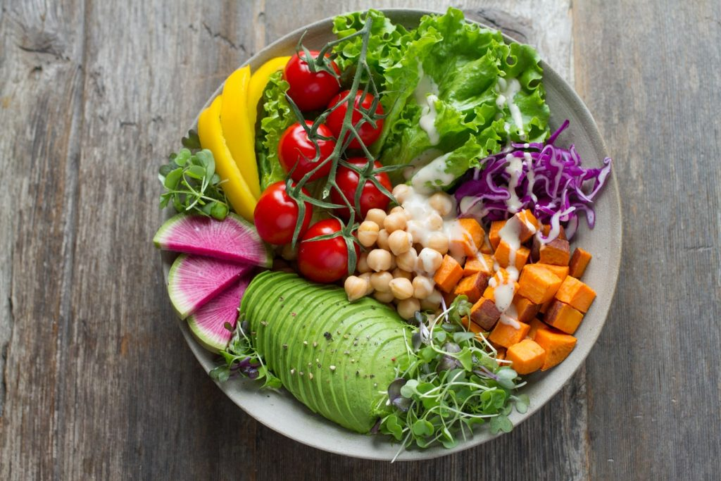 this image shows a plate bowl of vegan meal